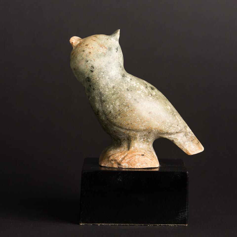 Soapstone owl carving authentically cherokee