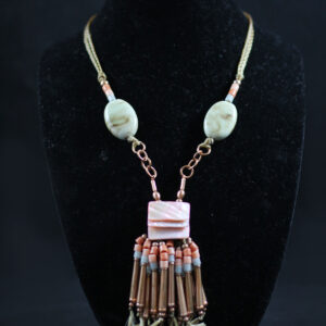 Neckpiece #1 with matching earrings