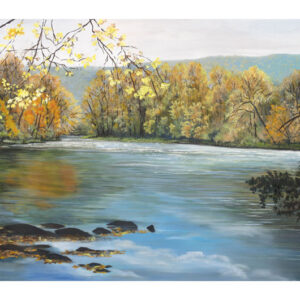Fall Color on the Oconaluftee River- print